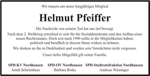 Nachruf SPD Nordhausen
