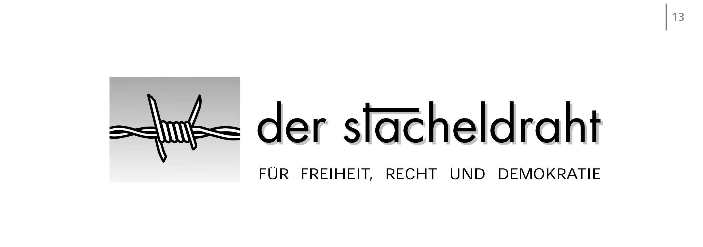 Logo der stacheldraht - Für Freiheit, Recht und Demokratie